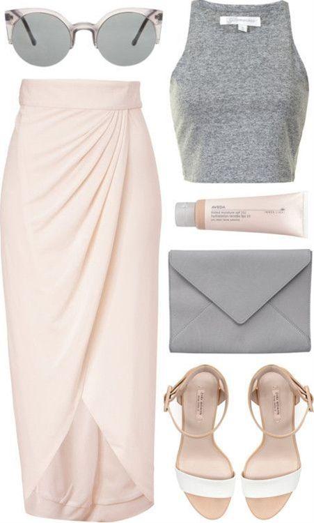 maxi skirts and blush pink