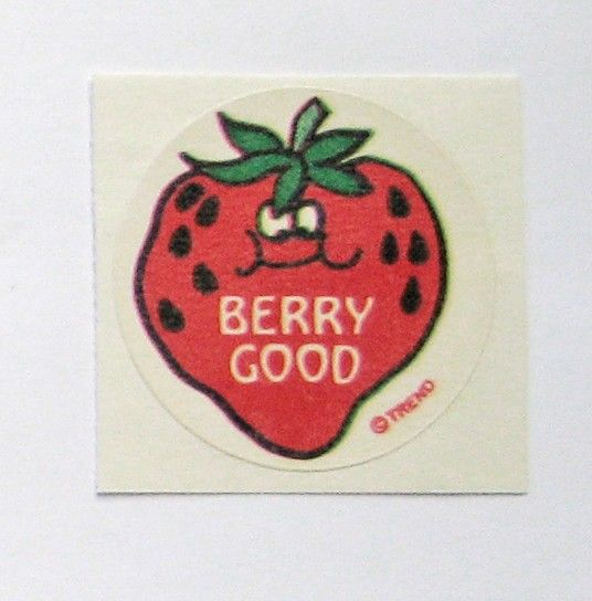 Retro Vintage 80s Trend Matte Scratch and Sniff Strawberry Scented Sticker