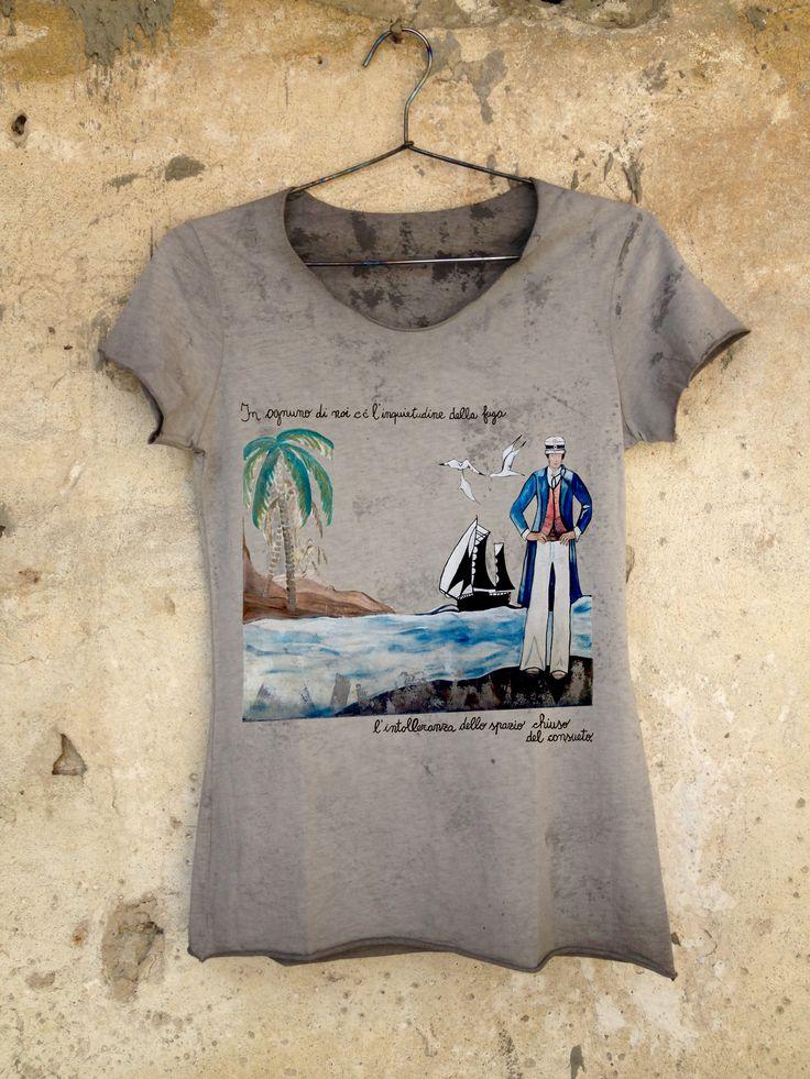 """T-shirt """"CORTO MALTESE"""" scura"""