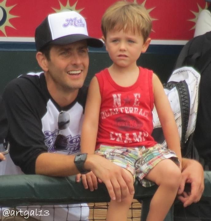 Joey McIntyre and Griffin #mixtape2012 NKOTB