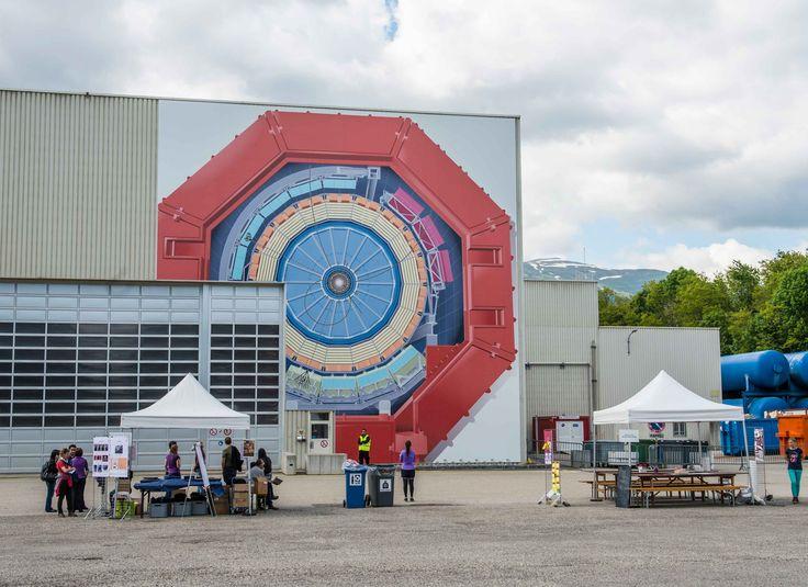 #Impression grand format sur #bâche pvc pour le #CERN. #bachepvc #evenement #decoration #batiment - wide format print #print #banner  remarq.ch
