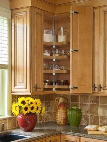 type of corner kitchen cabinets how to organize upper corner rh pinterest fr corner upper kitchen cabinet ideas upper corner kitchen cabinet sizes