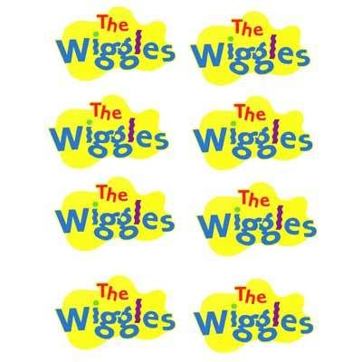 """DARK"" THE WIGGLES LOGO SHEET T-SHIRT IRON ON TRANSFER 8 TOTAL FOR DARK FABRIC"