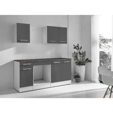 perfect cuisine complte greta coloris gris with range couvert conforama. Black Bedroom Furniture Sets. Home Design Ideas