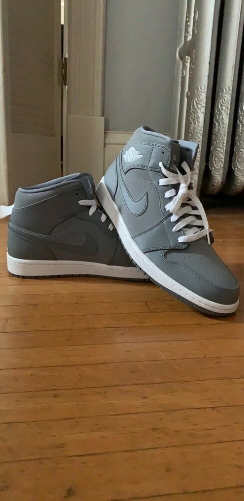 2469035c87ccf4 Brand New Nike Men s Air Jordan 1 Retro High-Top Cool Grey Wolf Grey Size 11.   fashion  clothing  shoes  accessories  mensshoes  athleticshoes (ebay link)