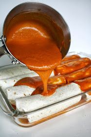 The Garden Grazer: Enchilada Sauce.   1/2 rotisserie chicken, $2 Tomato paste, $.25 5 med tortillas, $.50 Chicken broth, $1.00 Spices etc, pennies...  Total for two ppl, $4.00 - Amanda