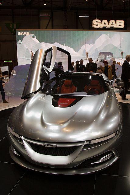 Saab Concept Car - Geneva Motor Show 2011 by losvizzero, via Flickr