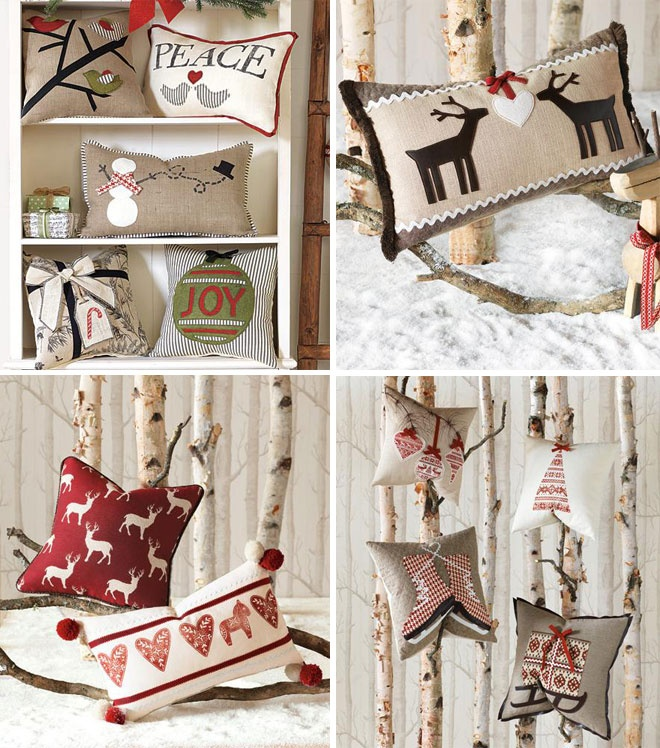 Christmas cushion, Cojines navideños