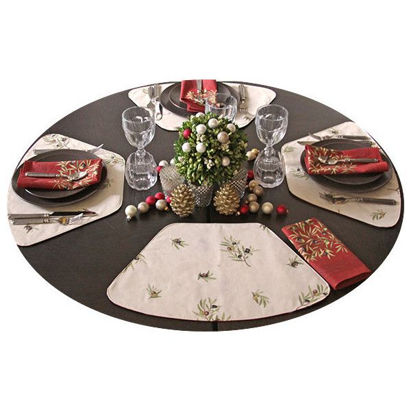 Set of 2 Placemats for Indoor-Outdoor Round Tables Set of 2 4 6 or 8... ($24) ❤ liked on Polyvore featuring home, kitchen & dining, table linens, black, home & living, home décor, round placemats, black table mats, linen placemats and black table linens