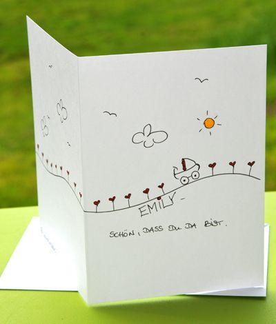 KerstinCards: süße Karten zur Geburt * KerstinCards * Unikat