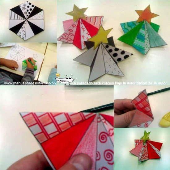 arbolitos de navidad en d para tarjetas
