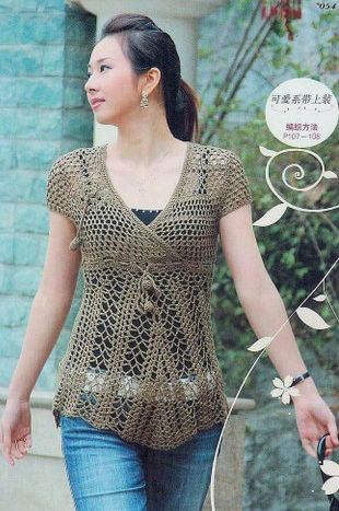 ~ Crochet Style ~: ~ Blusa con rosas~ Actualizada re