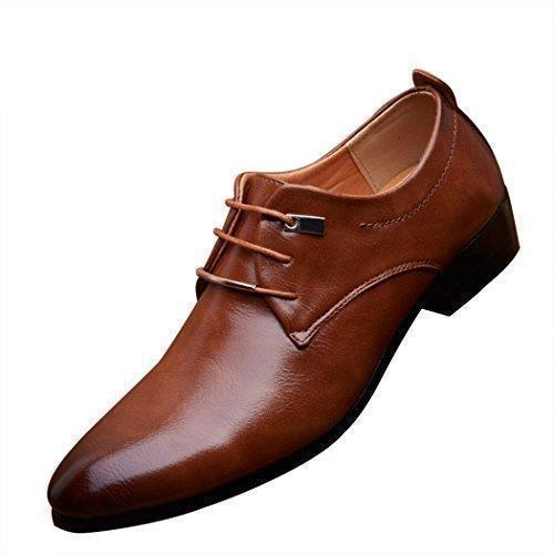 Oferta: 40.31€. Comprar Ofertas de Mr.Angelo - Zapatos de cordones de Piel para hombre, color Marrón, talla 44 barato. ¡Mira las ofertas!