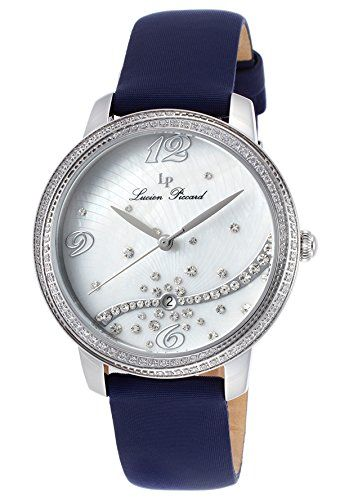 Women's Wrist Watches - Lucien Piccard Womens LP1652002SNBSS Mirage Analog Display Japanese Quartz Blue Watch -- Find out more about the great product at the image link.