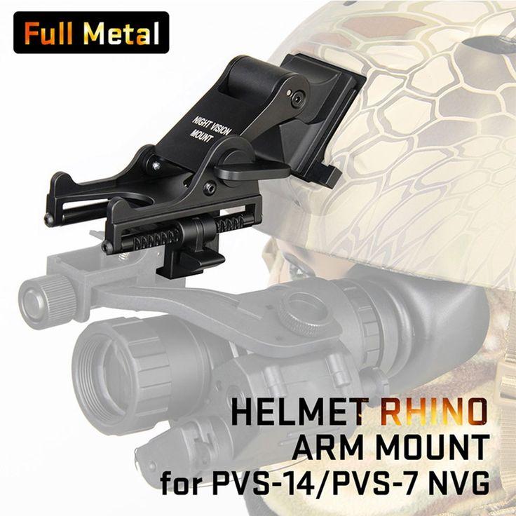 Tactical Helmet Adapter Full Metal NVG Rhino Arm For Mounting PSV-7 or PSV-1 AR Scope Mounts Helmet Plate Hunting Accessories