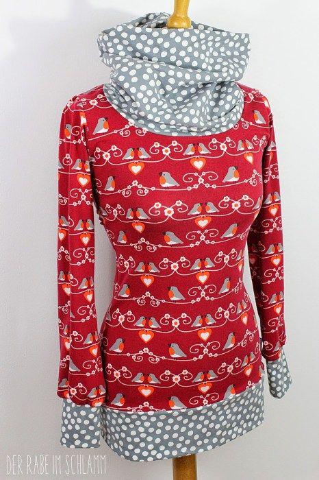 Shelly Shirt mit Maxikragen großer Kragen nähen XXL Kragen farbenmix