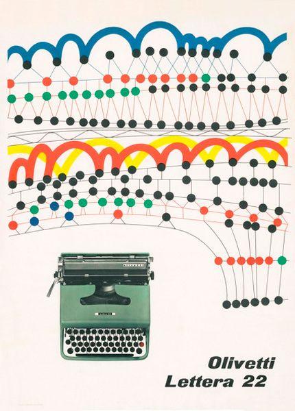 Olivetti Lettera 22 Poster designed by Giovanni Pintori for the Olivetti Lettera 22 - 1956