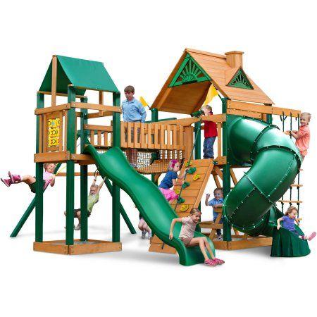 Gorilla Playsets Catalina Wooden Swing Set - Walmart.com