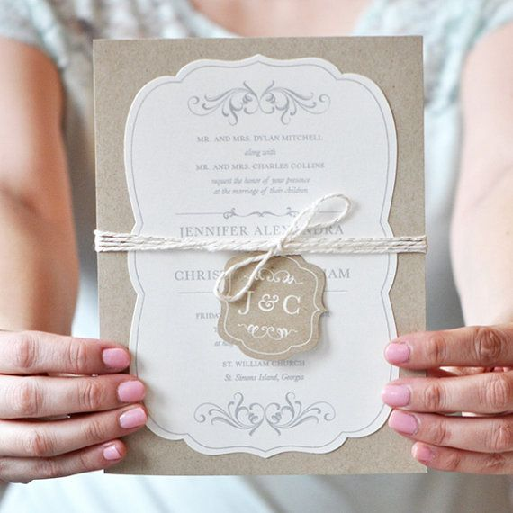 Twine Tag Die-Cut Rustic Romantic Country by EngagingPapers