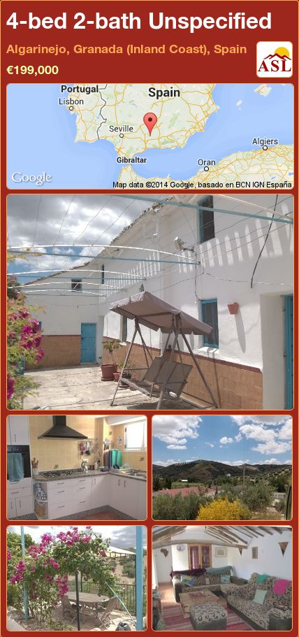 4-bed 2-bath Unspecified in Algarinejo, Granada (Inland Coast), Spain ►€199,000 #PropertyForSaleInSpain