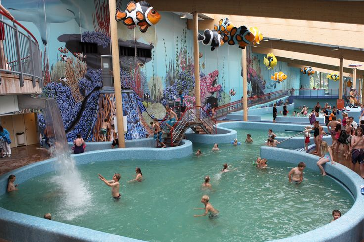 Visit the Badeland water park in Kristiansand Zoo in Norway. With both indoor and outdoor slides and pools. Perfect for children.  http://www.dyreparken.no/