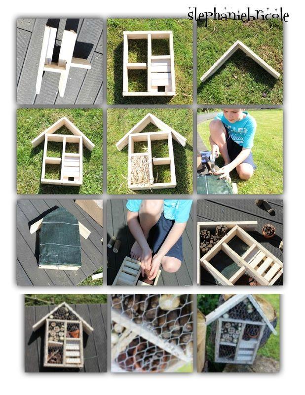 maison pour les insectes diy with child