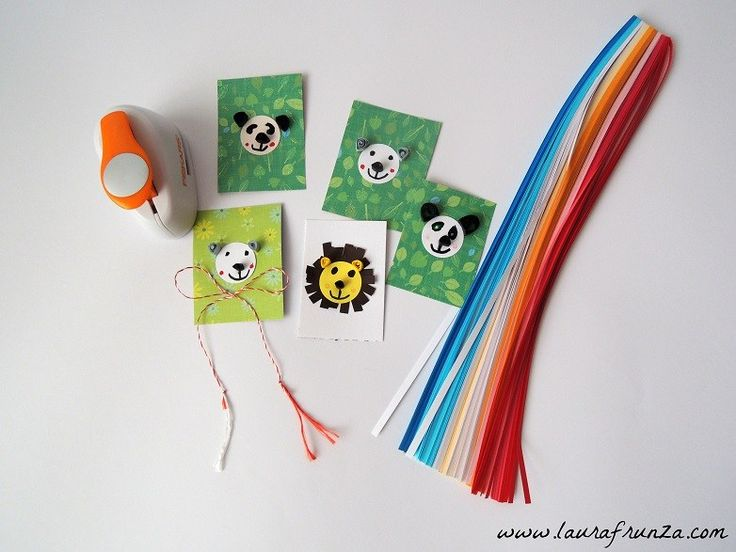 Qulling animals for small children - little bears and lions
