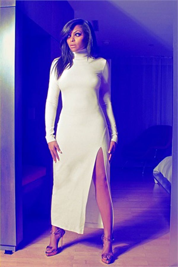 Taraji p henson white dress victorian
