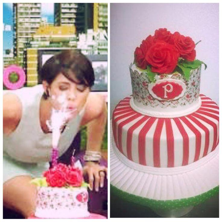 La conductora de Desayuno Americano Pamela David celebró su cumple con esta hermosa torta !