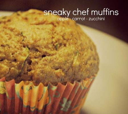 Sneaky Chef Muffins - lots of veggies, fruits, and grains. NO white sugar and NO oil!
