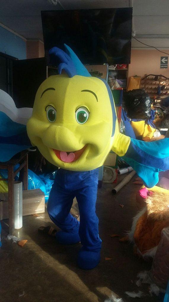 Flounder Fish Mascot Costume Adult Costume