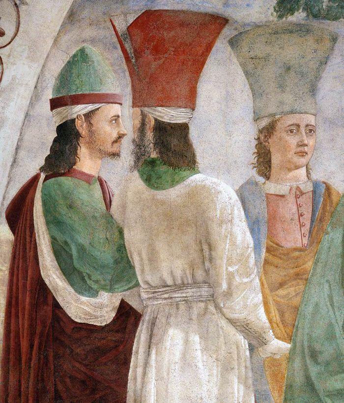 Piero della Francesca. Storie della Vera Croce, 1452-1466, Esaltazione della Croce