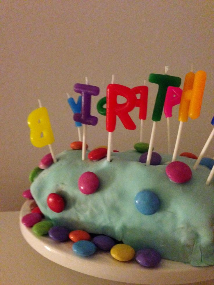 Katrins Backecke: Farbiger Kindergeburtstagsbranchli Cake                                                                                                                                                                                 Mehr