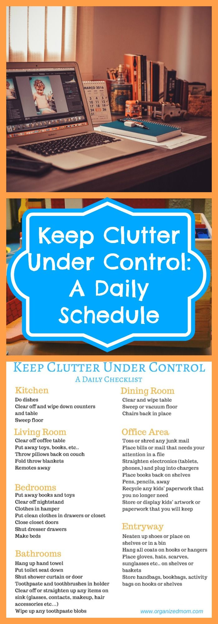 Organization--Keep Clutter Under Control: A Daily Schedule--The Organized Mom