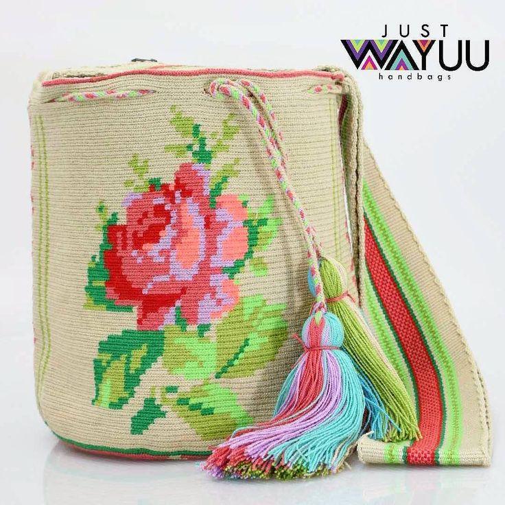 Large single thread Flower bag, made in acrilyc thread. Handcrafted handbags made by indigenous wayuu in the north of Colombia. Worldwide shipping. PayPal WA +57 3188430452 #seoul #ootd #mochilas #wayuu #handmade #boho #hippie #bohemian #trendy #knitting #australia #กระเป๋าถือ #Handgjord #Handgemacht #Handgemaakt #faitmain #london #australia #wayuubags #spring #Netherlands #handcrafted #fashion #กระเป๋า #france #newyotk #日本 #california #miami #Hæklet #newyork