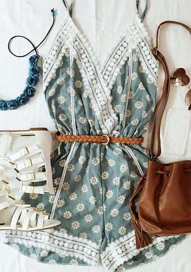 #summer #fashion / floral playsuit