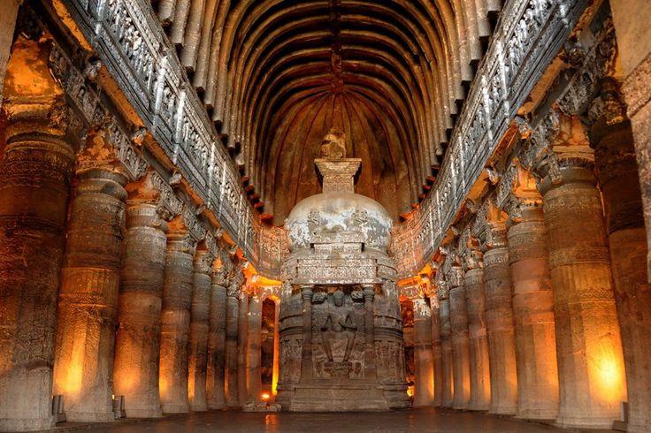 Les grottes bouddhiques d'Ajantâ en Inde