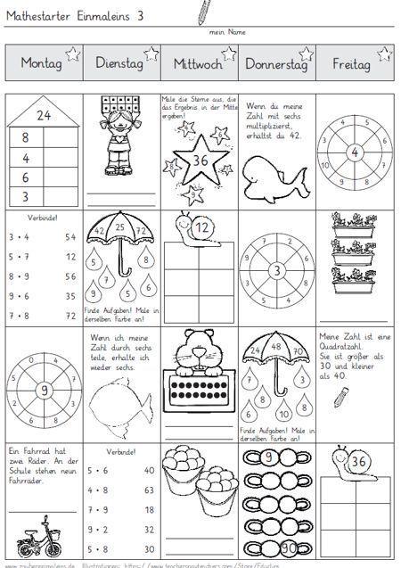 Mathestarter 1x1 - Woche 3 und 4