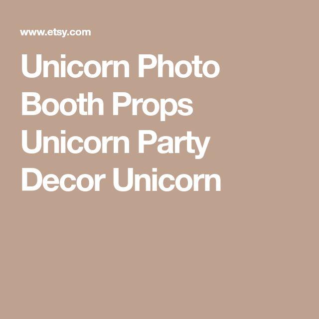 Unicorn Photo Booth Props Unicorn Party Decor Unicorn