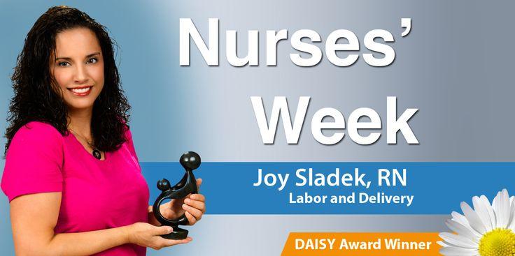 Nurses' Week 2015 - Saint Peter's University Hospital Daisy Award Winner, Joy Sladek, RN #Healthcare #NursesWeek