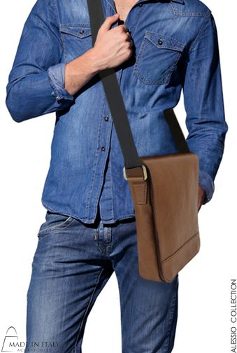 Alessio Collection | Italian Leather Messenger | Bags for Men | Handmade, Cross body or on the Shoulder Bags  | Made in Italy Accessories https://madeinitalyaccessories.com/bags-for-men