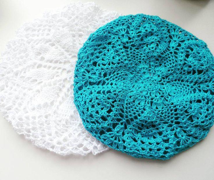 Скоро лето! Отпуск! Поездки к морю! Или просто прогулки под летним ласковым, а иногда и аалящим солнышком. Незаменимым и стильным аксессуаром станет легкий хлопковый беретик, связанный крючком ;) такие береты доступны к заказу в любом цвете. # crochet #crocheting #crafting #craft #knit #knitting #handmade #design #вязаниеназаказ #вязание #вязаниекрючком #ажурныйберет #головнойуборручнойработы #головнойуборназаказ #берет #беретик #береткрючком