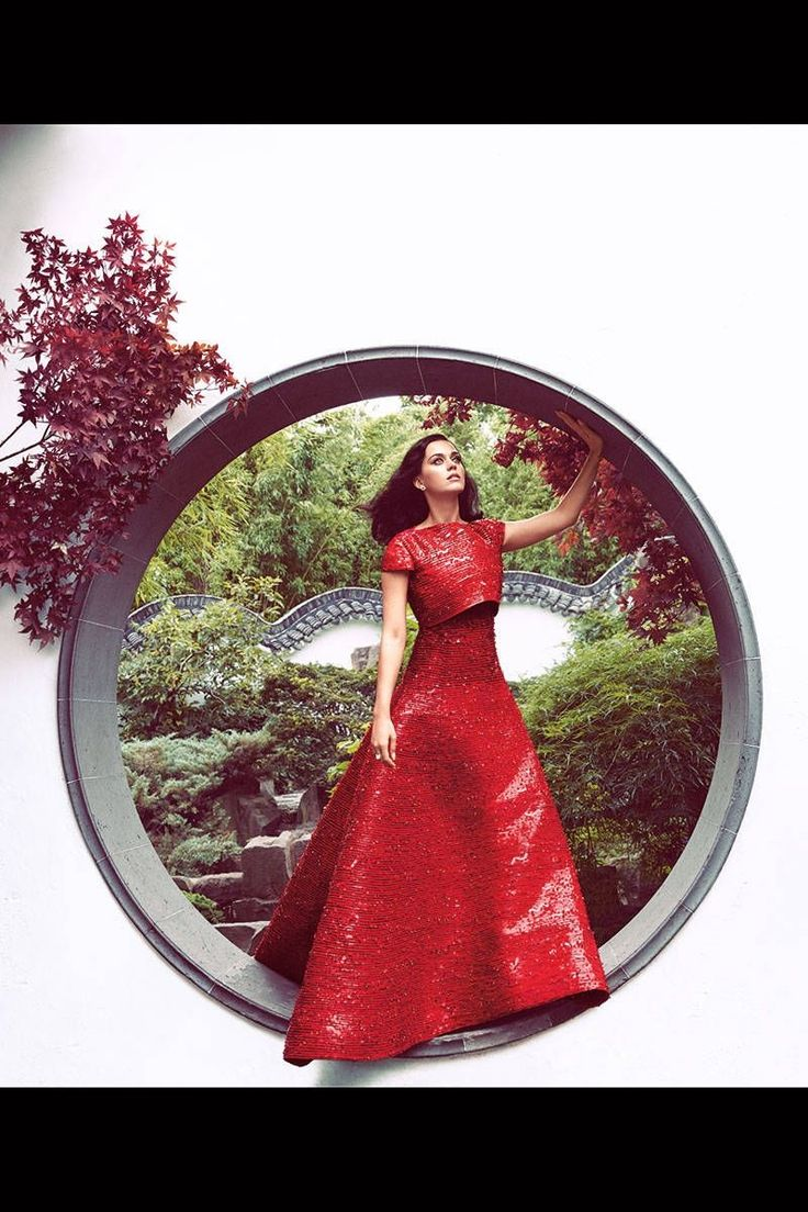 Lady in red, in every incarnation, Katy Perry lives in color.