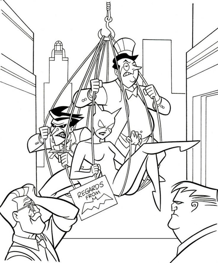 Way Back In Coloring Book Page Pencilled One Of 64 Pages BATMAN DEEP FREEZE Featuring The Joker Penguin Catwoman Commissioner Gordon And Harvey