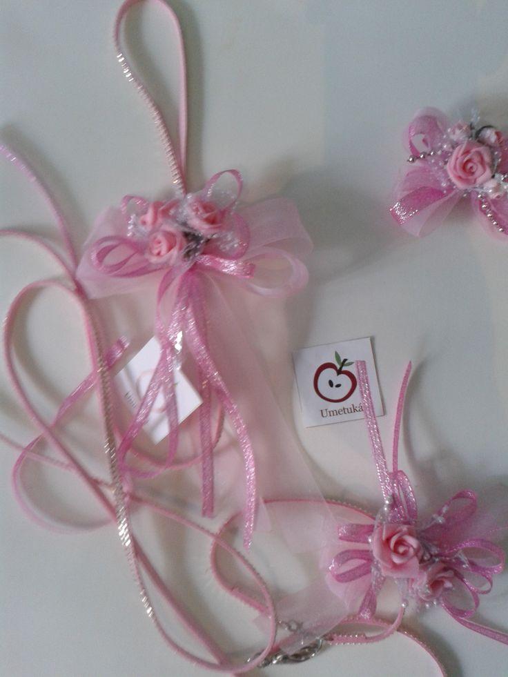 Dog leash and pet bow, for a wedding, correa para perritas con su moños, ideal xa una boda o fiesta...