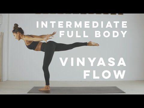 Intermediate Full Body Vinyasa Flow Yoga 60 Minutes With Absmo 2020 Youtube In 2021 Vinyasa Flow Vinyasa Flow Yoga Vinyasa