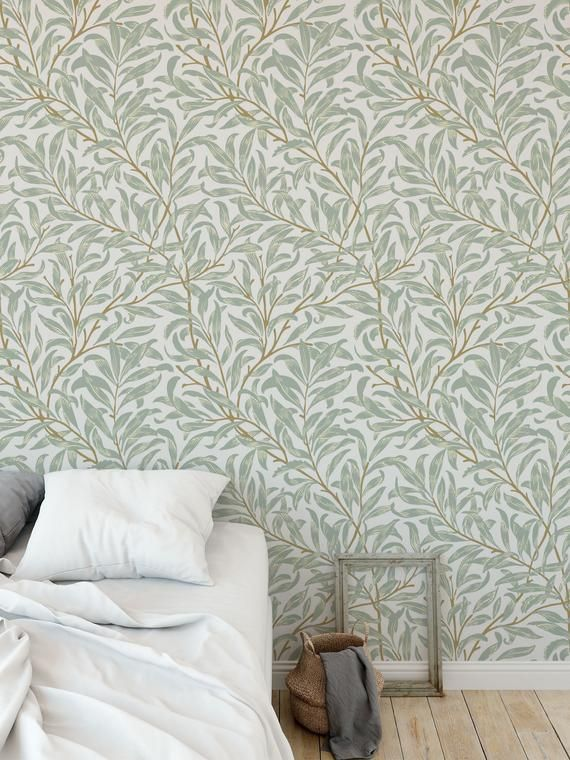 Willow Bough Removable Wallpaper Self Adhesive Wallpaper Etsy Best Removable Wallpaper Feature Wall Wallpaper Removable Wallpaper