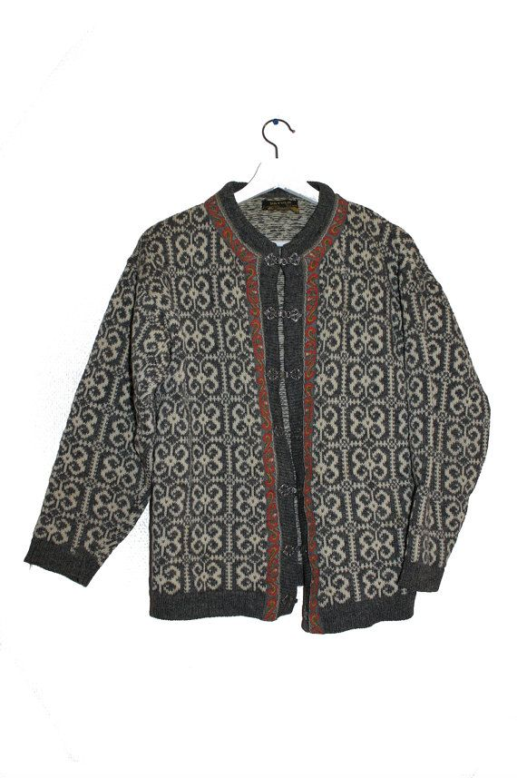 Wool cardigan traditional Dale of Norway Nordic sweater vintage