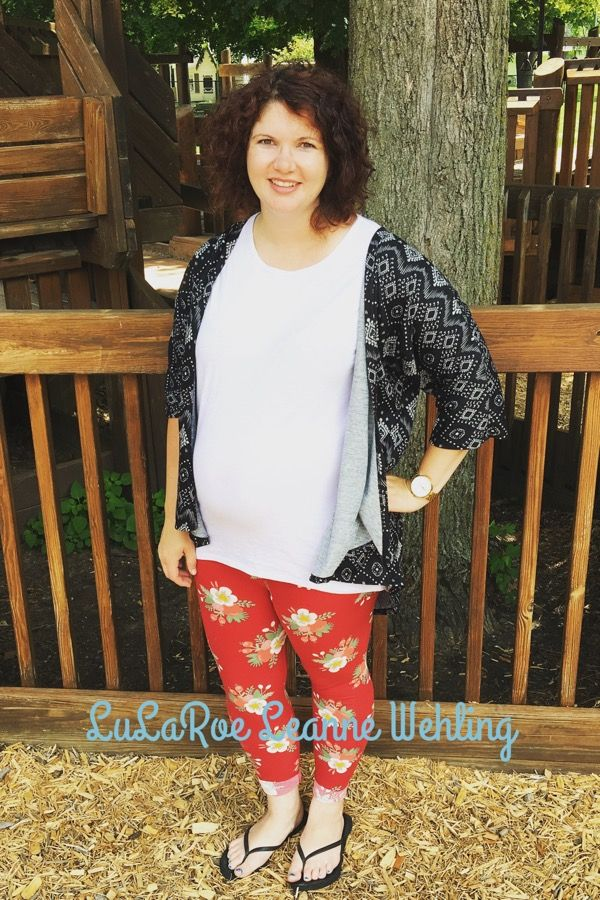 LuLaRoe Leggings are the perfect maternity pants! Paired here with an Irma Tunic and a Lindsay Kimono for some subtle pattern mixing Https://m.facebook.com/groups/lularoeleannewehling Lularoeleannewehling@gmail.com