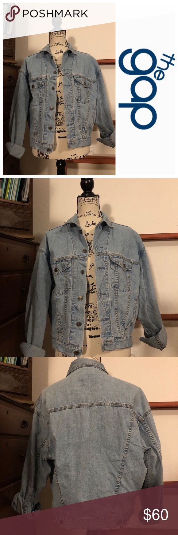 """The Gap Vintage Boyfriend Jean Jacket Small The Gap Vintage Boyfriend Jean Jacket Small. This item comes from a smoke free home. 100% cotton. Measurements: armpit to armpit 24"""", 22"""" arm length. Thank you for looking 😉! GAP Jackets & Coats Jean Jackets"""